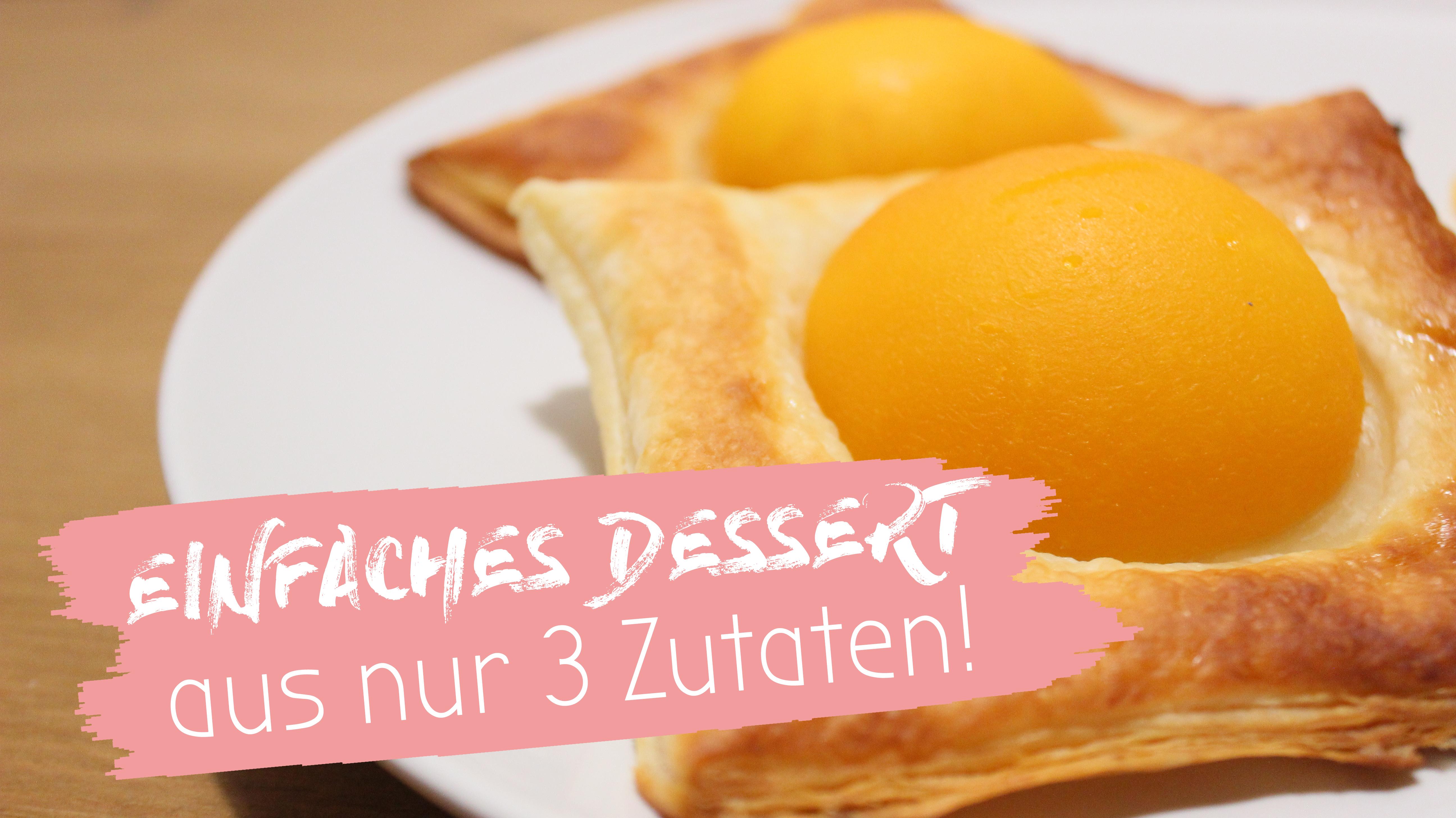 Süßer Snack aus 3 Zutaten. Schnelles Rezept für ein Dessert.