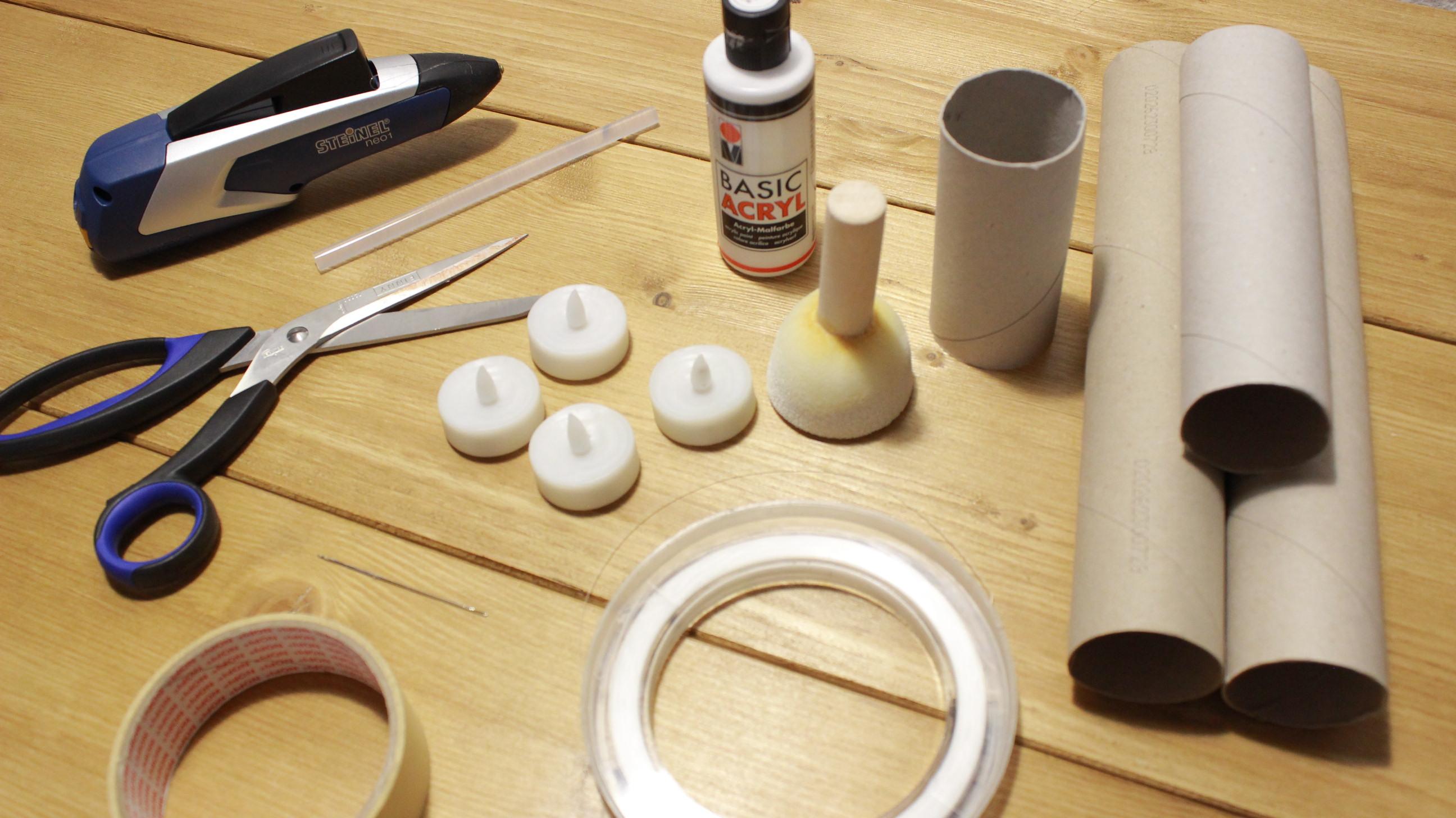 Materialien für Fliegende Kerzen