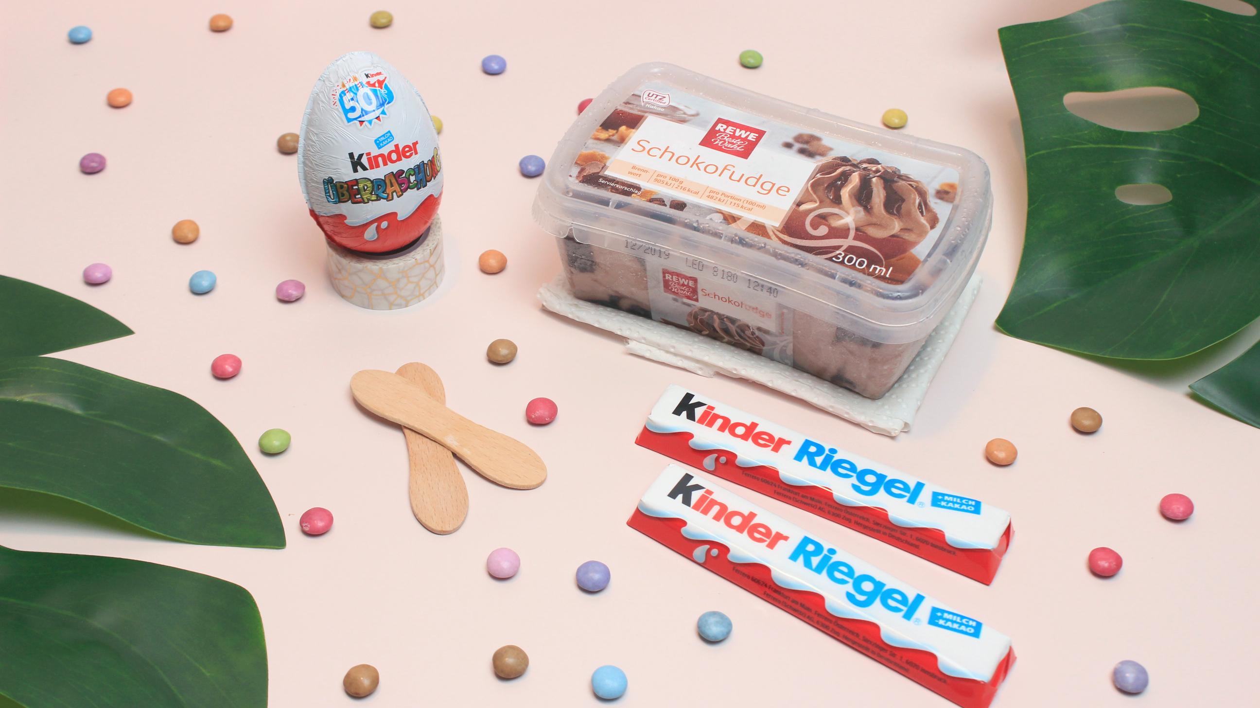 Zutaten Überraschungs Ei Eis