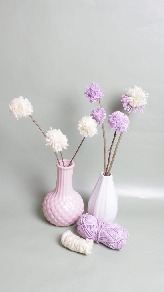 DIY-Blumen aus Wolle